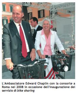 L'Ambasciatore Britannico Edward Chaplin